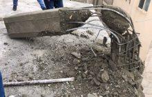 تخریب ستون های غیر مجاز ملکی در شهرک ارم