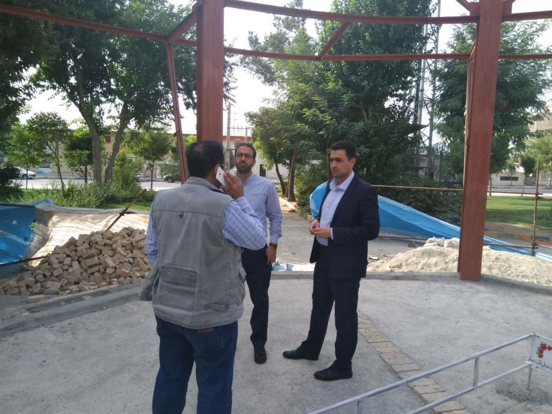 آغاز عملیات عمرانی پروژه یادمان شهدای شهرک وحدت از سه شنبه هفته جاری
