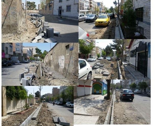 اجرای عملیات جدولگذاری خیابان به آفرین و شورگشتی فردیس