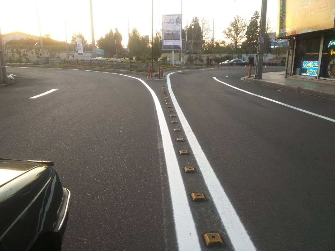 خطکشی ۴۱ هزار متر طول خطکشی ممتد و منقطع در منطقه یک شهرداری فردیس