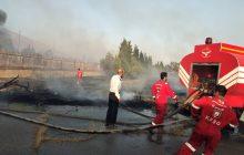 20 هکتار از علفزارهای اراضی ندامتگان شهید کچویی فردیس در آتش سوخت