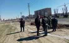 عملیات اصلاح هندسی در تقاطع خیابان ضلع غربی پارک تندرستي