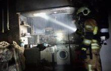 اطفای حریق ساختمان ۲۴ واحدی در فردیس