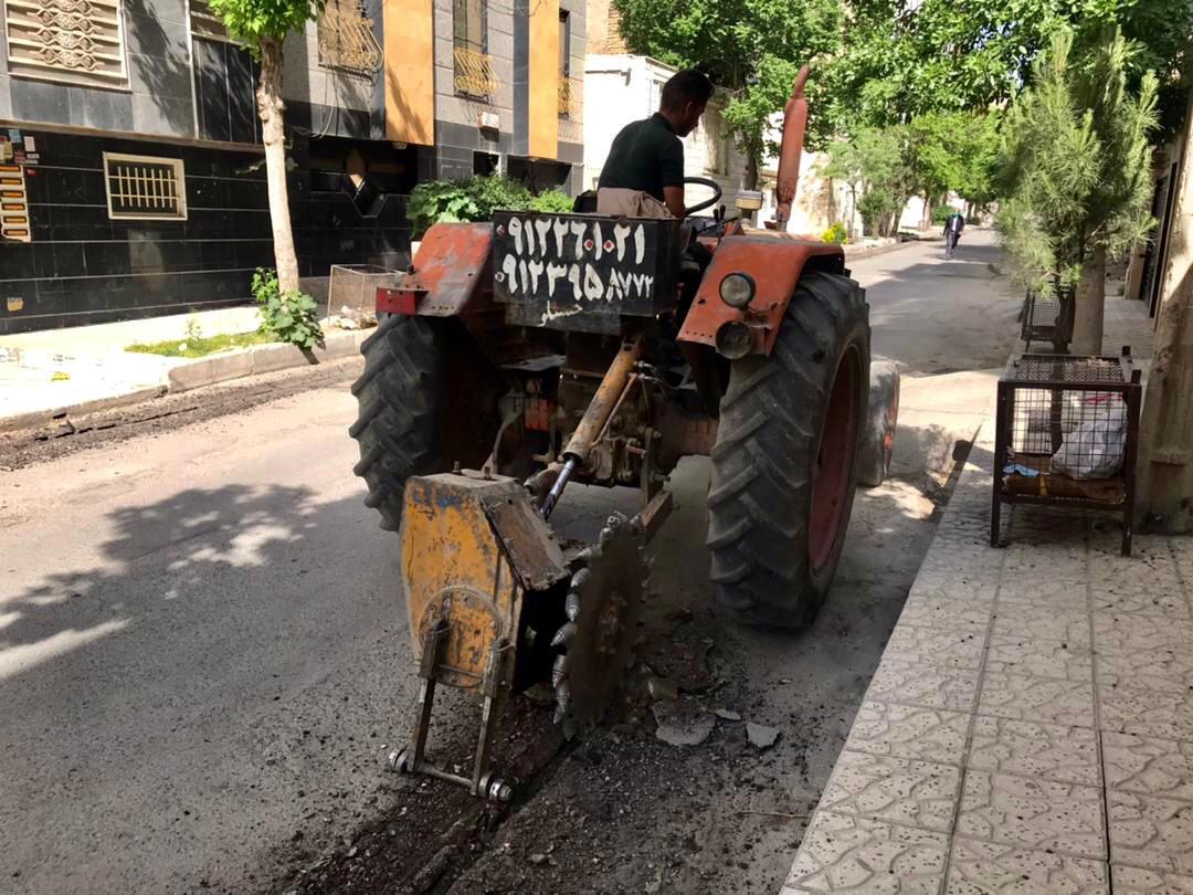 عملیات بهسازی خیابان دوم غربی شهرک وحدت آغاز شد