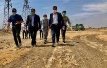 بازدید شهردار فردیس از  عملیات احداث فاز دوم بلوار کشتارگاه