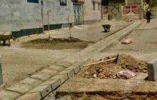 اجرای جدولگذاری خیابان سعدی شرقی گلستان ۸