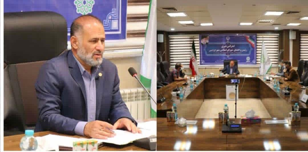کنفرانس خبری رئیس شورای اسلامی شهر فردیس پیرامون گزارش عملکرد ۴ ساله شورا