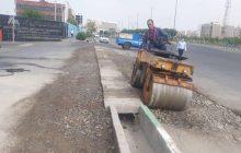 ادامه عملیات بهسازی معابر منطقه دو فردیس