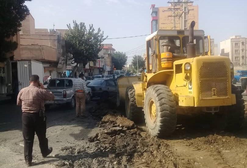 عملیات آسفالت و زیر سازی خیابان های سطح شهر با جدیت در حال انجام است