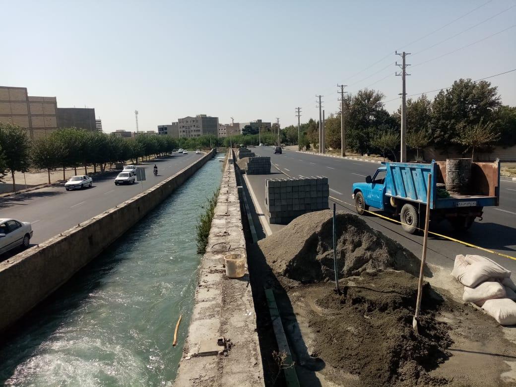 ایمن سازی  و دیوارکشی  کانال غربی